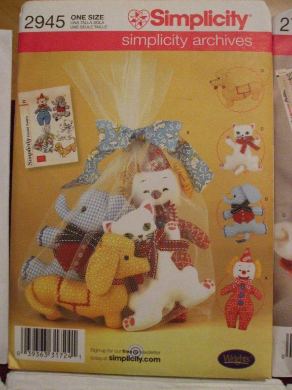 Stuffed Toy Teddy Bear Sewing Pattern Chihuahua Clown Elephant Panda