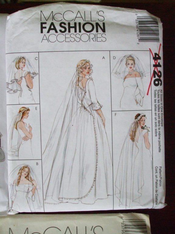 Bridal Wedding Veils sewing patterns Butterick McCalls Burda ...
