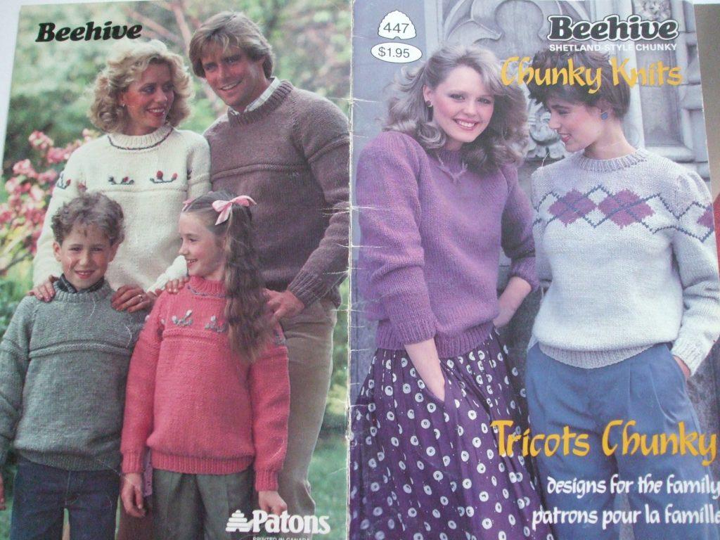 447 Shetland Chunky knitting patterns men women child pullover ...