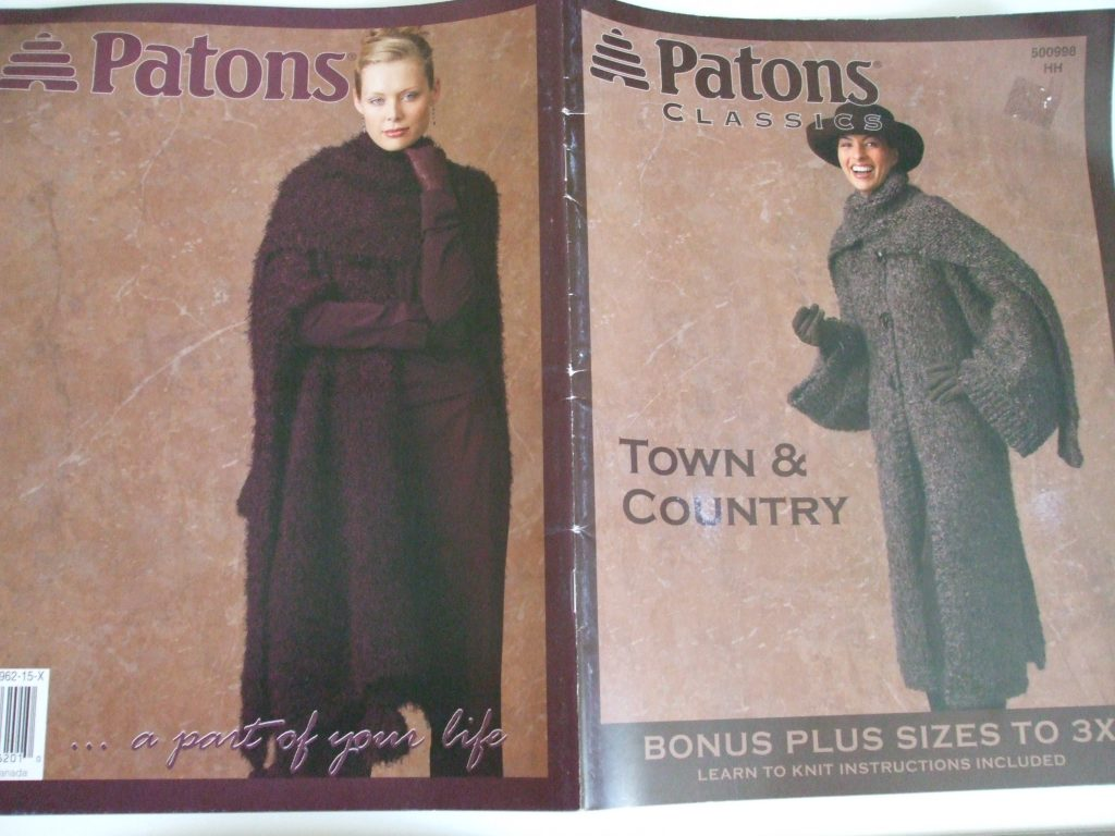500998 Town Country Knitting Patterns Coats Wrap Around Cardigans