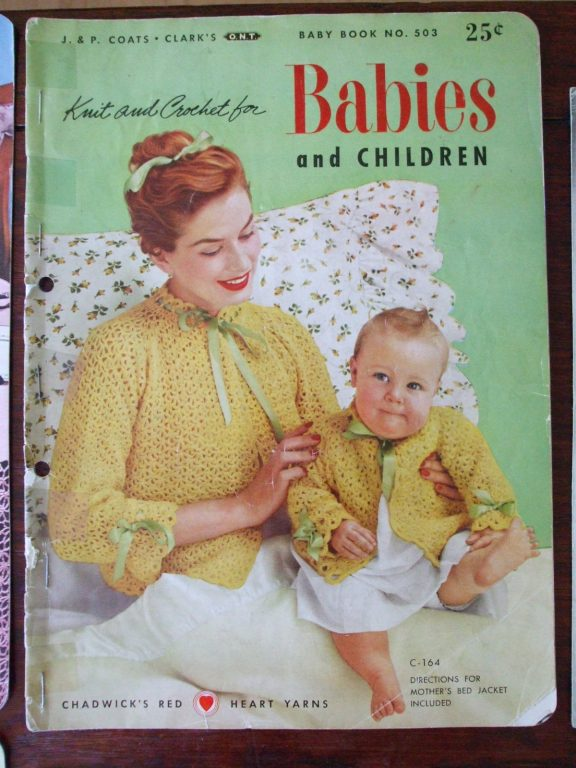 J&P Baby Book #503 vintage 1st Edition 1953 Knitting crochet ...