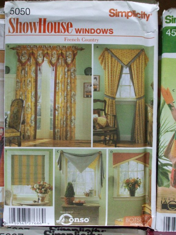WINDOW Treatments Simplicity Sewing Patterns Shades French Country Drapes Valance SecondSilver Prices US INCLUDE Shipping Canada