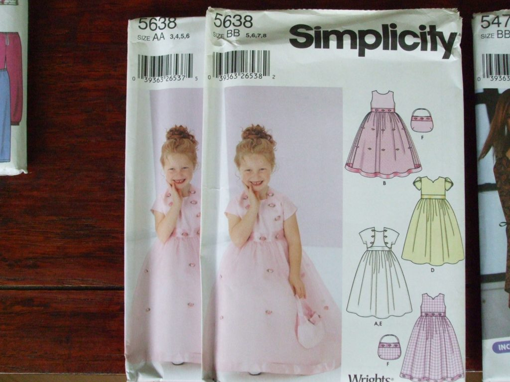 FORMAL GIRLS DRESS SEWING PATTERNS Vogue simplicity Burda McCalls ...