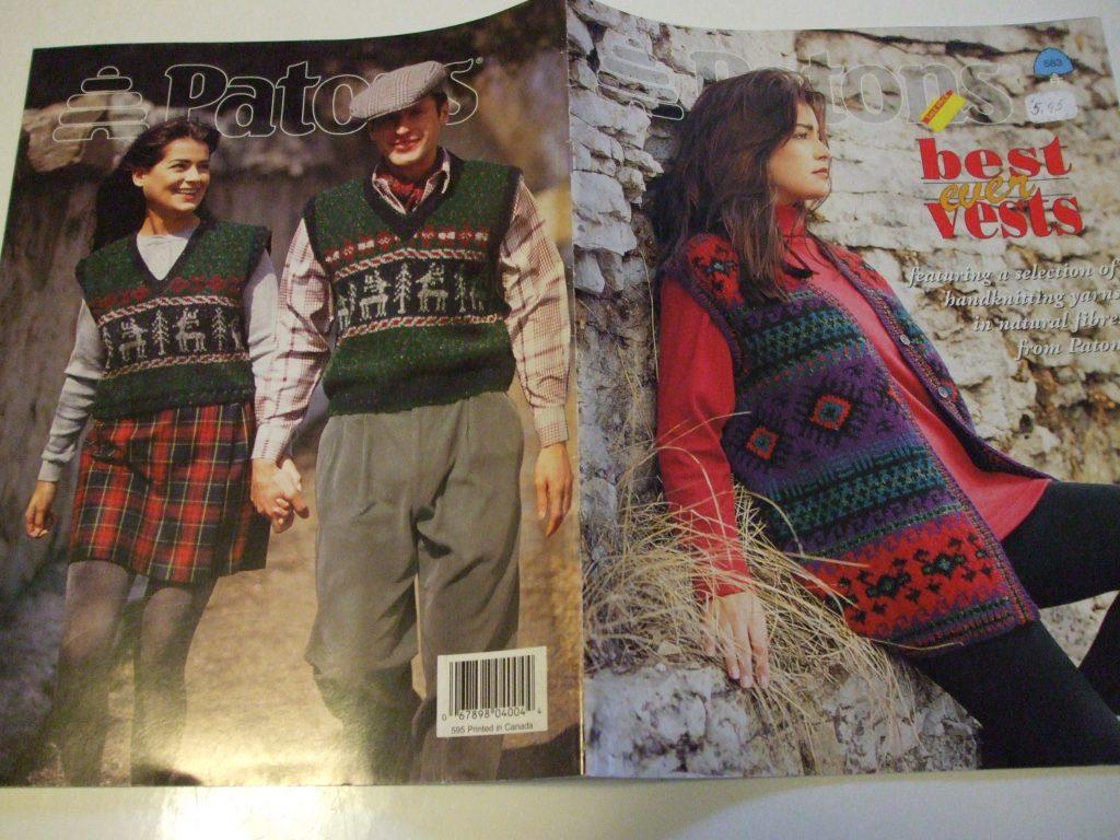 583 Patons Best ever Vests knitting patterns Natural fibres Men ...