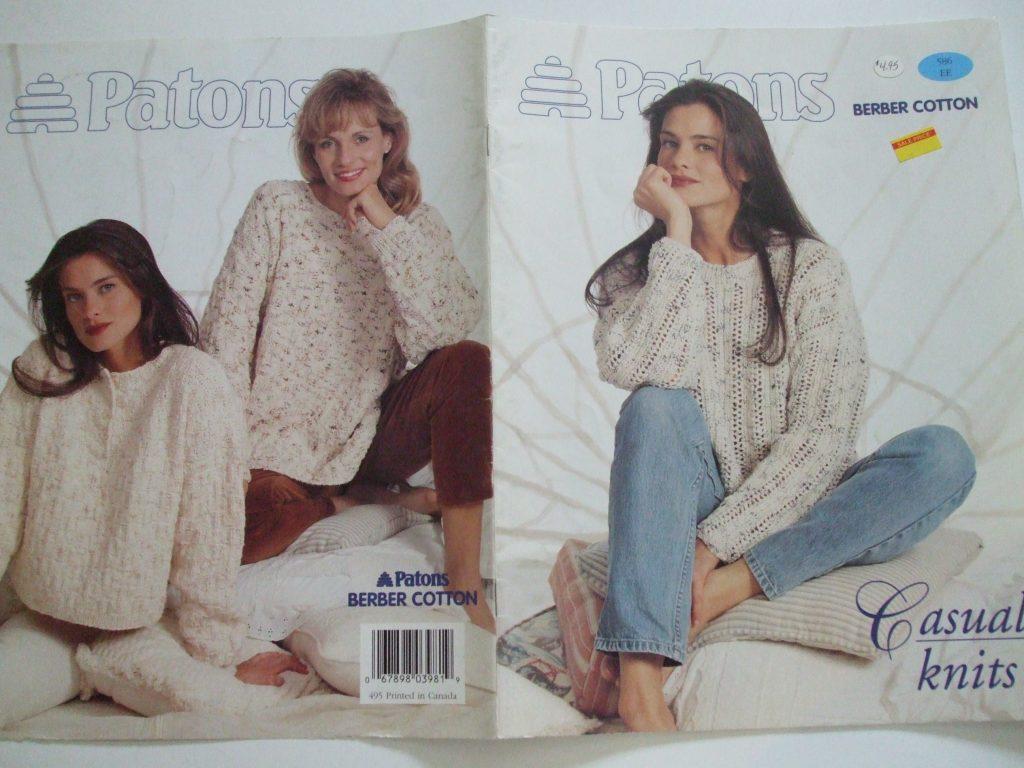 586 Patons berber cotton Casual Knits knitting patterns tunic ...