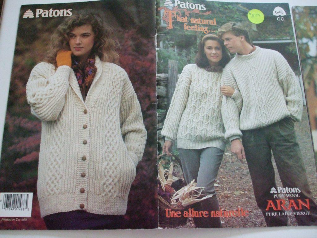 646 That Natural feeling Patons pure wool knitting patterns Aran men ...