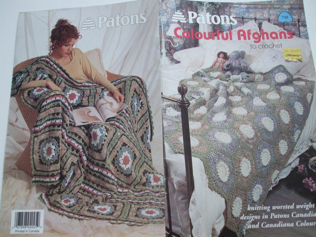 738 colourful Afghans crochet patterns Worsted Canadiana Patons ...