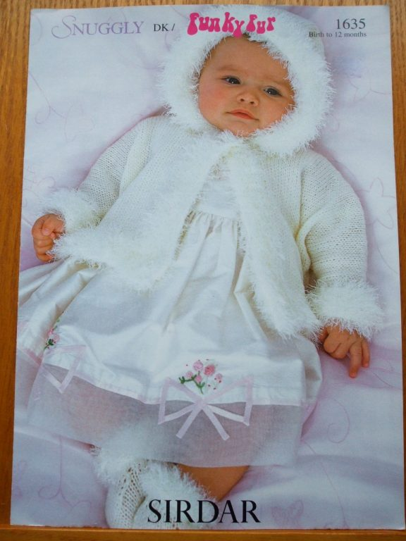 Baby Christening Matinee Coat & booties Knit pattern Snuggly DK ...