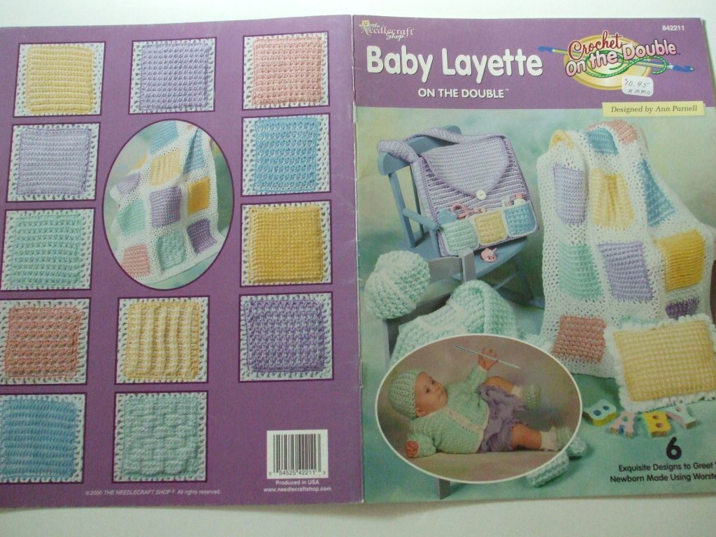 Baby Layette Crochet on the Double 6 patterns Ann Parnell #842211 ...