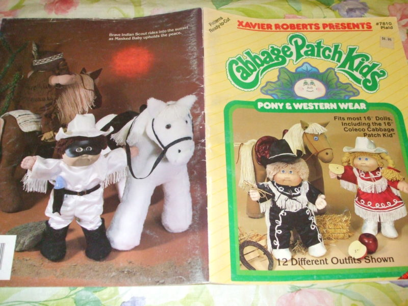 Cabbage Patch Kids Doll Clothes Pony Western Wear 12 Sewing patterns #7810