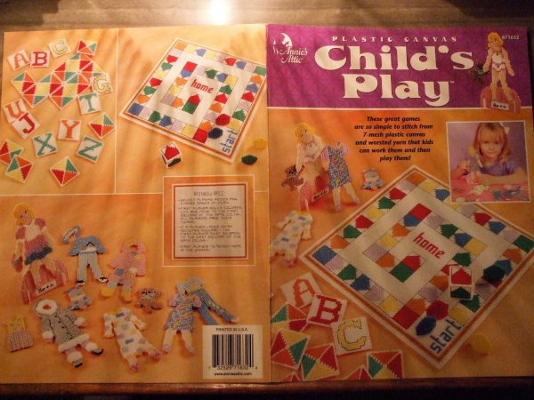 Childs Play games Plastic Canvas, Annies Attic, 871632