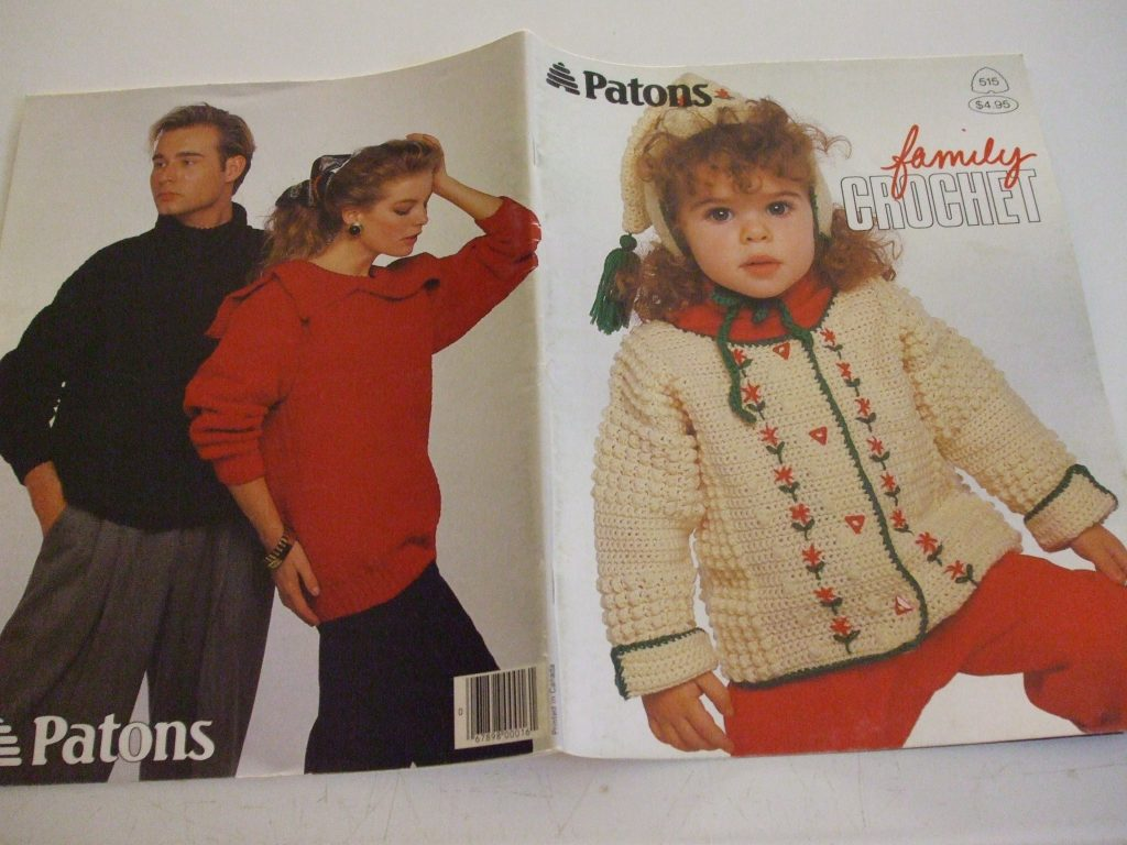 Family Crochet patterns 515 Patons children adults sweater pullover ...