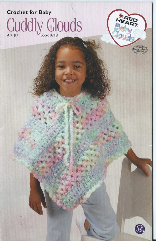 Crochet for baby cuddly clouds pattern red heart book 0718 puff pattern red heart book 0718 puff stitch poncho blanket 1199 bankloansurffo Choice Image