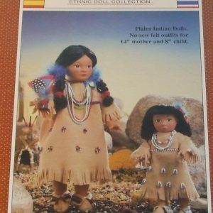 Doll sewing Patterns Plains Indian 14 8 World Friends Ethnic Collection FCM 176