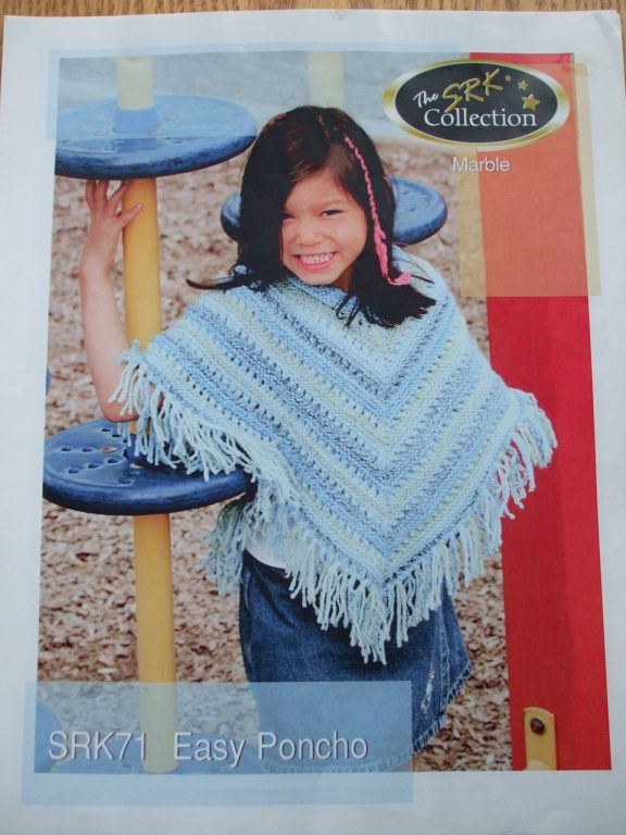 Easy Poncho Knit pattern SRK71 Collection Marble Kertzer Child sz sm ...