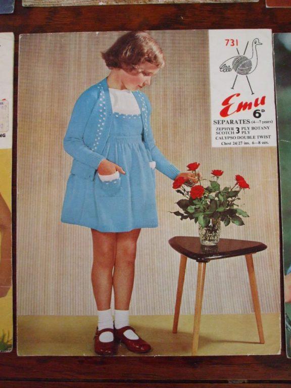 Emu girl cardigan skirt bib Knitting pattern 731 – SecondSilver ...