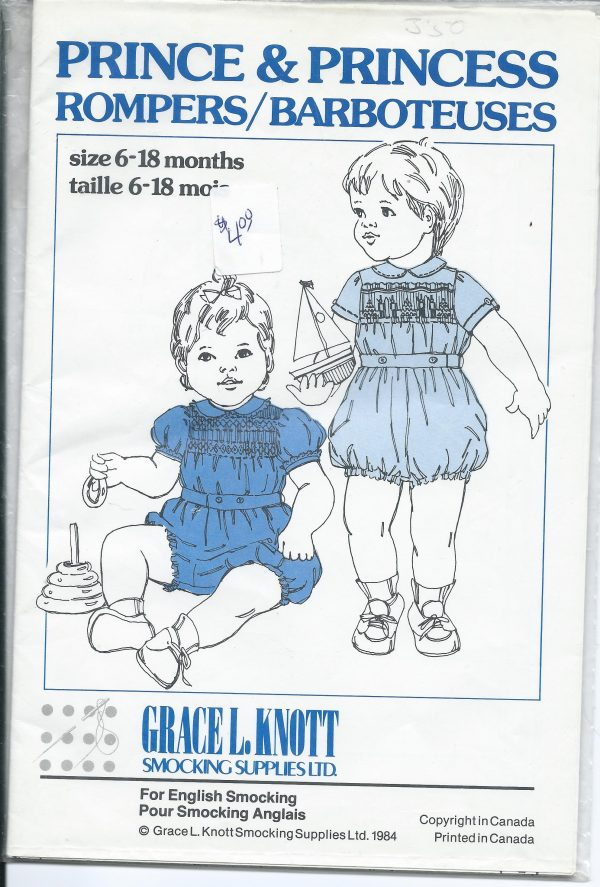 Grace L Knott - Prince and Princess Romper Smocking Pattern