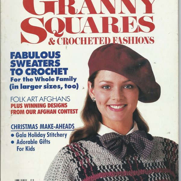 Granny Squares and Crocheted Fashions, September 1987
