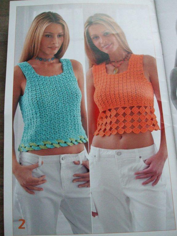 Heat Wave crochet patterns 500808 women halter tops Patons Designer ...