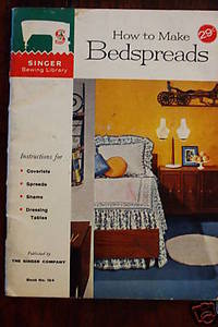 How to make Bedspreads Sewing patterns 1960 Singer Co.
