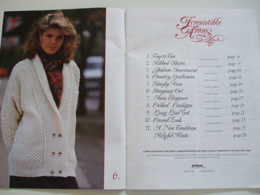 Irresistible Arans Patons 514 cardigan skirt vest pullover men women ...