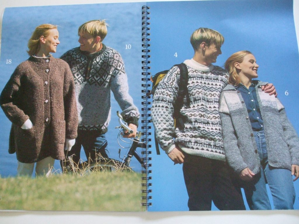 Istex 14 Icelandic Lopi Knitting Patterns Hooded Cardigan