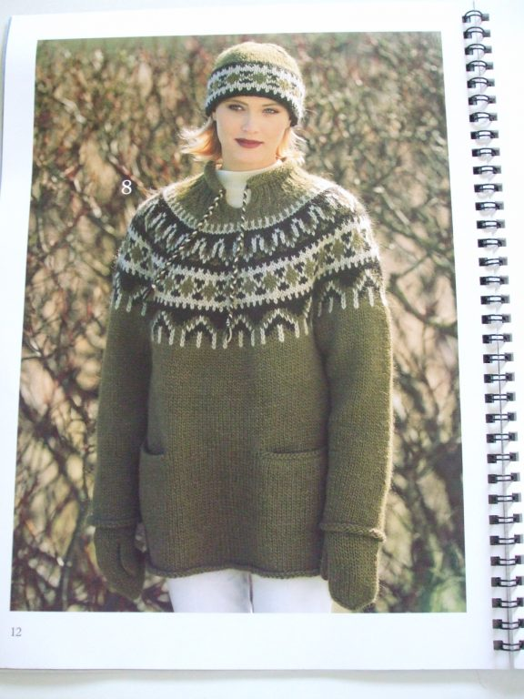Istex #14 Icelandic Lopi knitting patterns hooded cardigan jacket ...