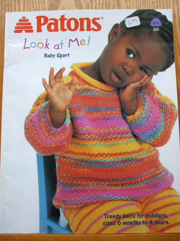 Patons Knit Patterns Sz 6mon 4yr Look At Me Baby Sport Trendy