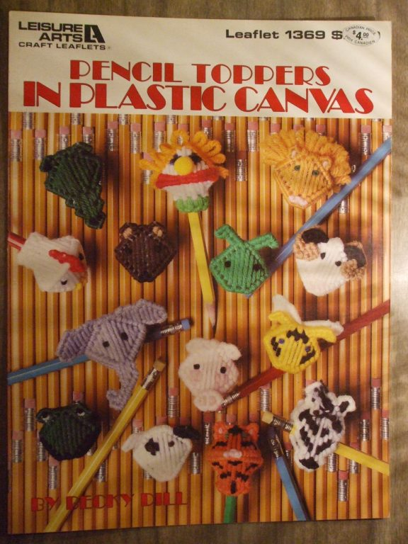 Pencil Toppers in Plastic Canvas, Becky dill, Leisure Arts 1369