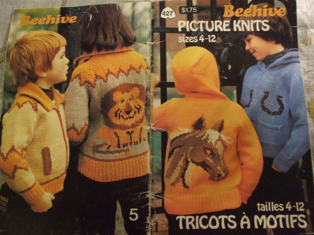 Picture knits #427 graph Beehive Patons Child sz 4-12 knitting ...