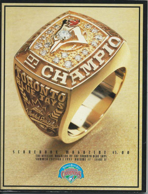 Scorebook Official magazine of the Toronto Blue Jays summer edi