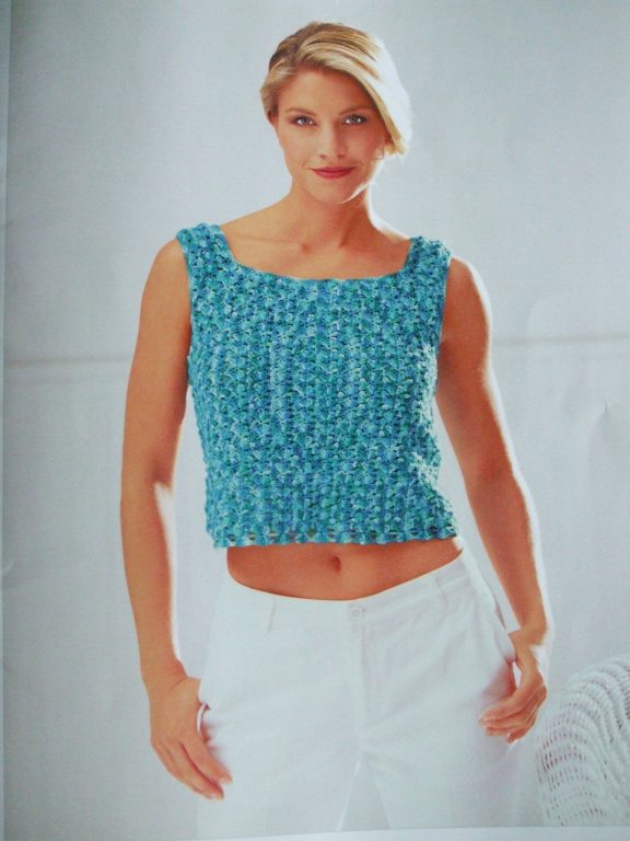 Shawl tunic tank top twin button cardigan set Crochet patterns ...