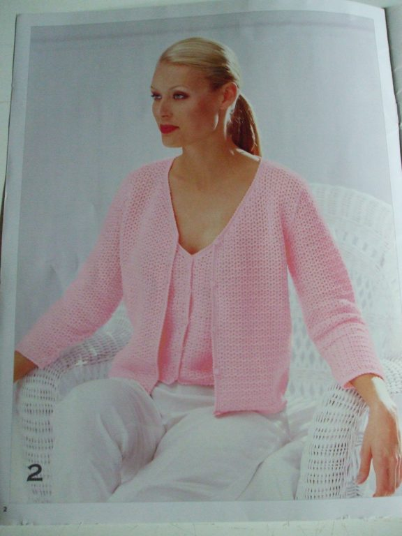Shawl tunic tank top twin button cardigan set Crochet patterns ...