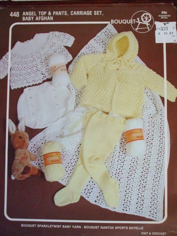 Spinrite Knit Crochet Patterns 448 Baby Angel Top Leggings Prices