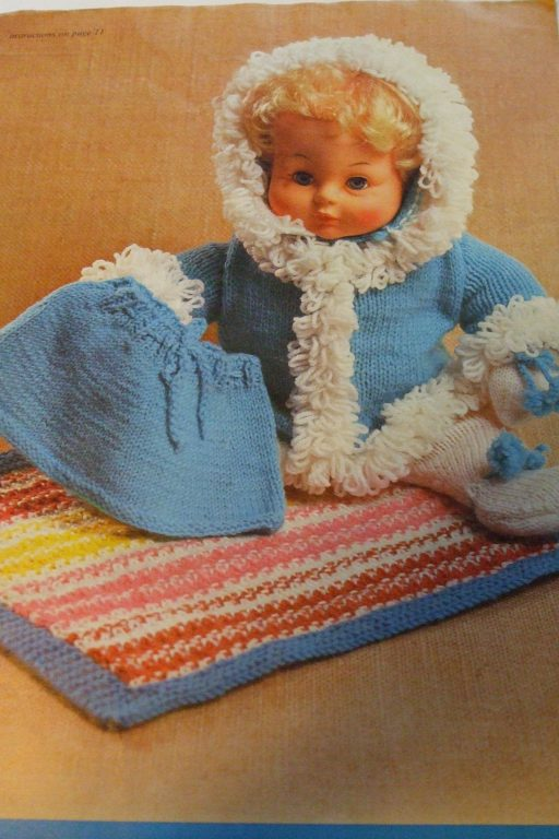 Wendy Bits & Bobs Knitting patterns book 1977 doll parka owl lion ...