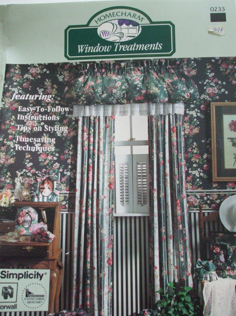 Window Treatments Simplicity Sewing pattern book curtains drapes valances swag