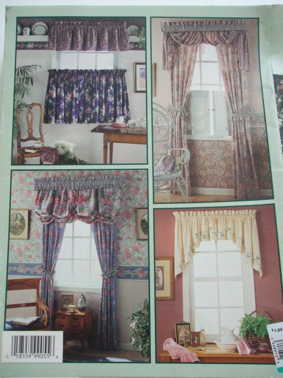 Valances For Windows Canada : Window treatments simplicity sewing pattern book curtains