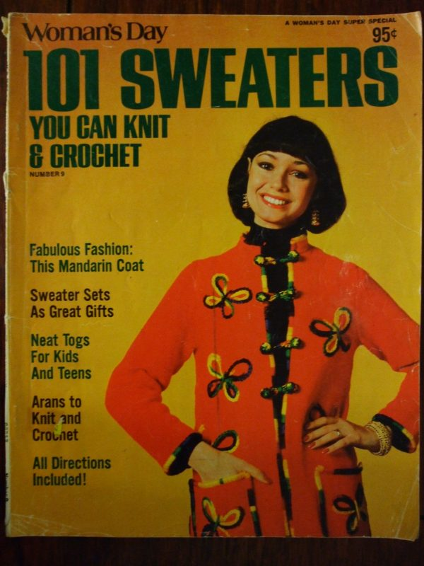 Womans Day 101 Sweaters Knit & Crochet patterns 1976