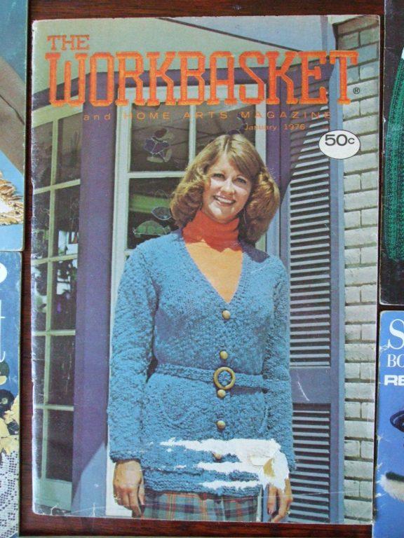 Workbasket jan 1976 knit crochet vintage patterns secondsilver 999 bankloansurffo Choice Image
