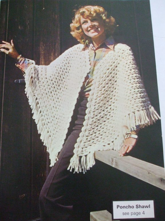 Shawls Ponchos and Stole knit crochet patterns patons beehive Colour ...