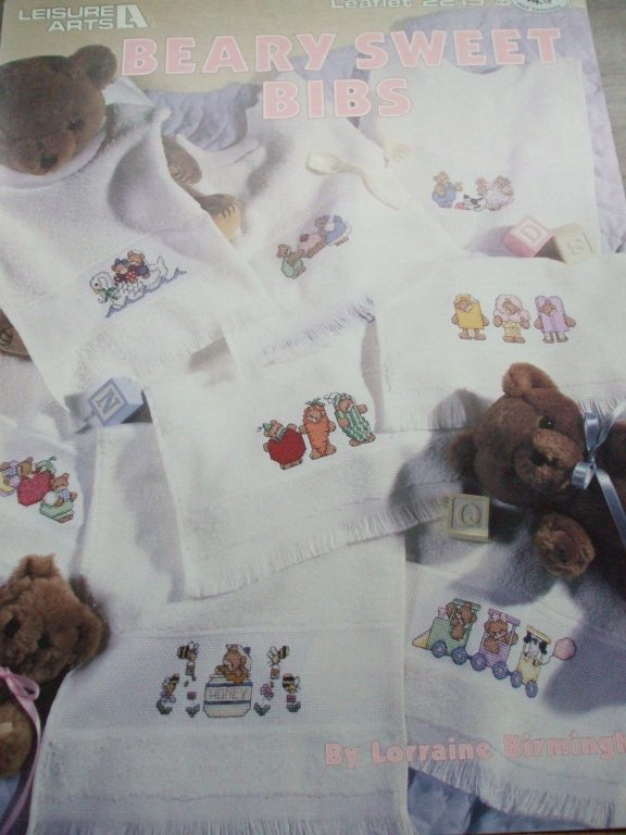 Cross Stitch Baby Bibs Burp Towels Sippy Cups Patterns All