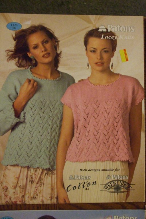 Patons Knitting Patterns Women Pullover Sweater Vest Tops