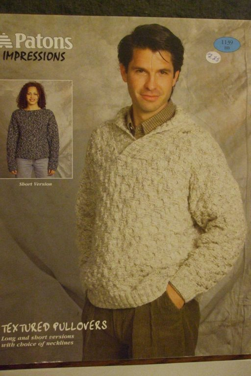 Men women knitting patterns sweaters cardigans pullovers Bernat ...