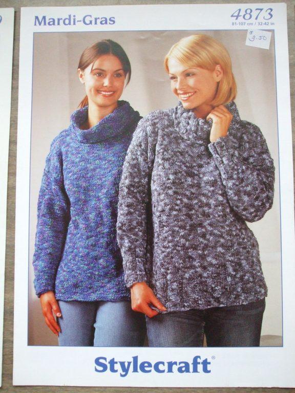 Stylecraft womens knitting patterns pullover sweater Safari Velvet ...