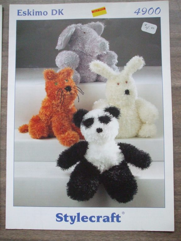 Stuffed Toys Animals Eskimo Dk Stylecraft Knitting Patterns Pig Duck