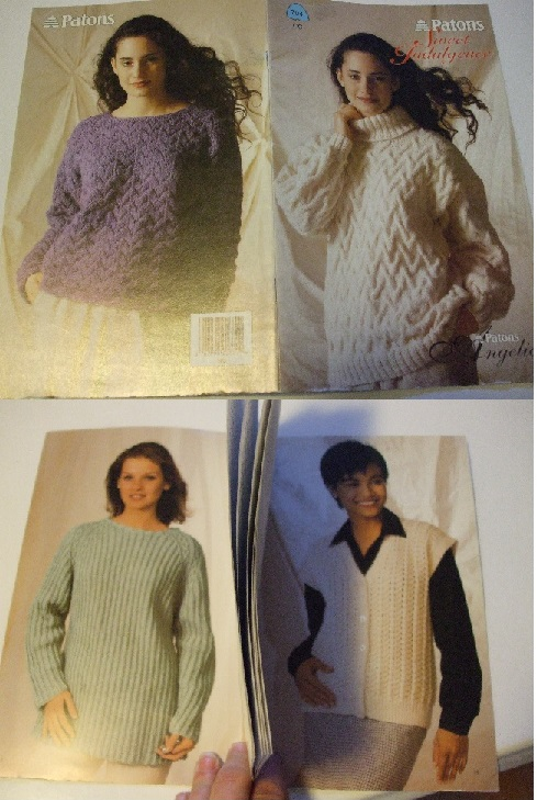 704 760 Patons Men Women Knitting Patterns Pullover Button Vest