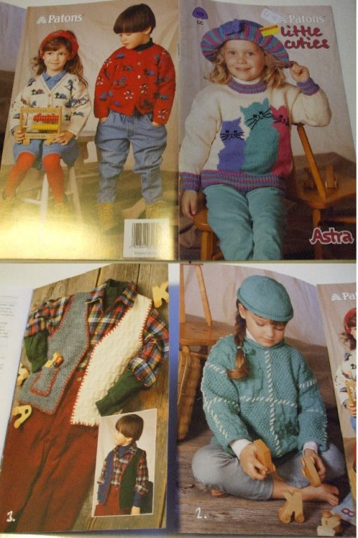 722 764 Patons Knitting Patterns Children Babies Accessories