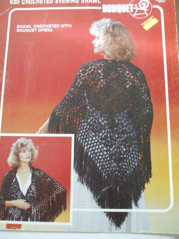 Knitted knit Crochet Shawl Stole Cape poncho wrap patterns Lady Galt ...