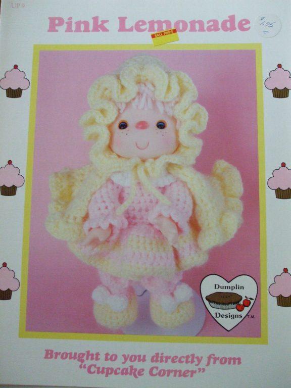 Dumplin Designs Crochet Dolls Dresses Patterns Cupcake Corner 1985