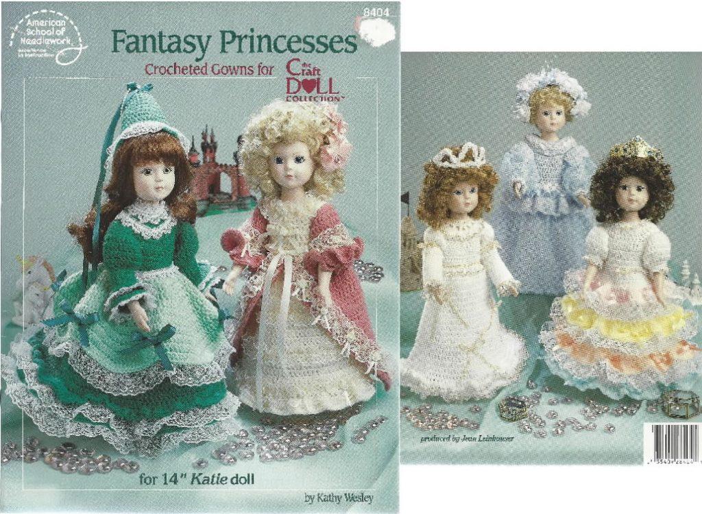 75fd78745 Crochet Fantasy Princess Wedding gown Patterns the Craft Doll ...